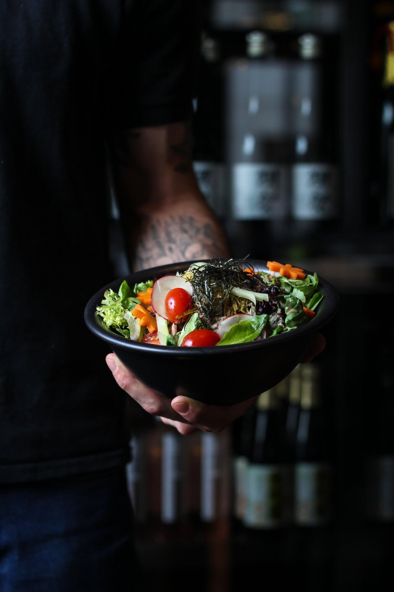 Salade de sashimi