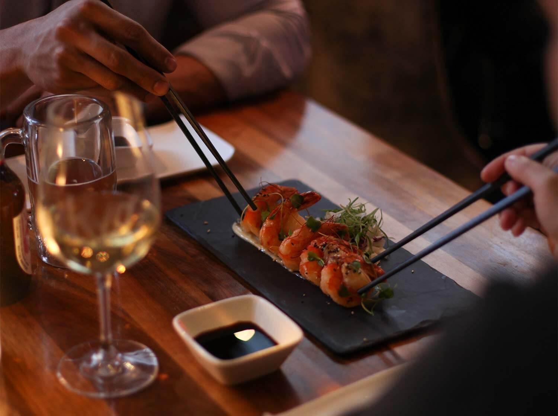 crevette ebi mayo Jumbo fried shrimps, wasabi mayo